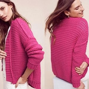Anthropologie Moth Chunky Knit Cardigan Sweater